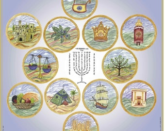 12Tribes of Israel Poster