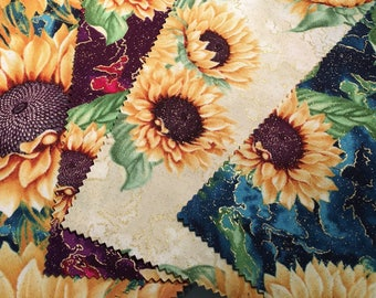 On Sale--Here Comes The Sun layer cake by Ann Lauer of Grizzly Gulch Gallery for Benartex.