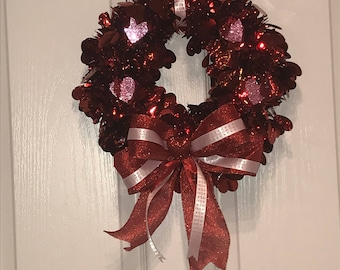 Light up Valentine's Day wreath