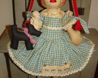 Wizard of Oz rag Doll Pattern Raggedy Ann