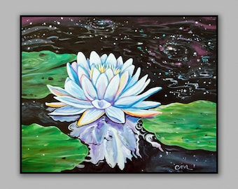 Magic in the Water. Water Lily Print from my original Painting