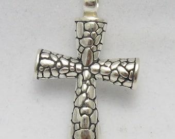 PE000327 Sterling silver pendant   925  solid cross handmade