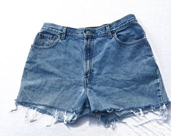 Vintage 90s Levis Cutoff High Waisted Mom Shorts