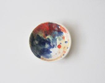 Colourful porcelain ring dish