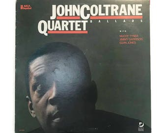 "John Coltrane, ""Ballads"", vinyl record album, 1970s, jazz lp, tenor, saxophone, compilation"