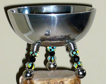 Bowls, Serving Bowl, Dinnerware, Beaded Bowl, Nuts Bowl, Candy Bowl, Party Bowl, Tailgate Bowl