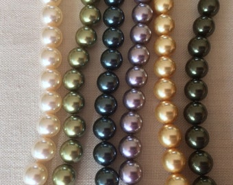 SALE!!! SALE!!! 8mm Genuine Swarovski Pearls (5810), Your choice of color and package size.