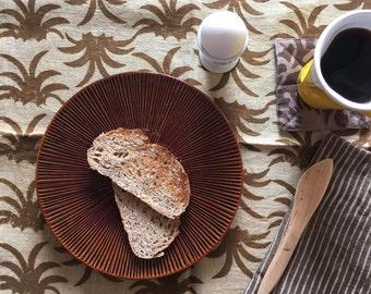 organic NAPKINS rustic cloth napkins tropical decor pineapple linen Home organic cotton Gold tabletop decor SetOf4 - GOLDEN TOPS