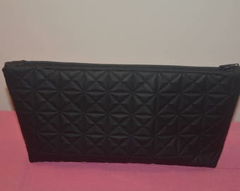 Black clutch - similli leather