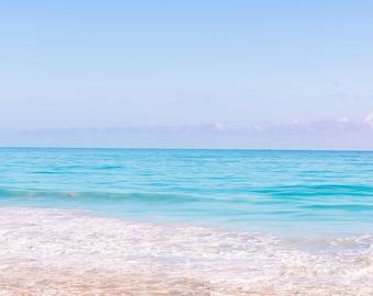 Beach Sunset: Blue Water