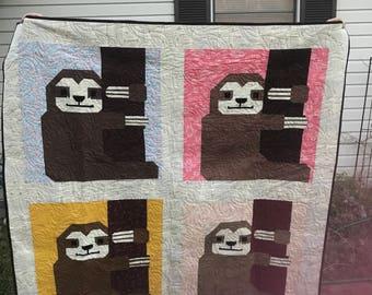 Sloth quilt, Custom Made