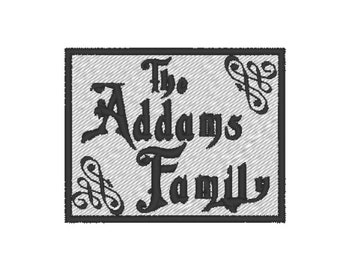 The Addams Family Patch