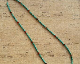 Southwest Necklace, Native American style Necklace, boho necklace, Beaded necklace, Turquoise Necklace