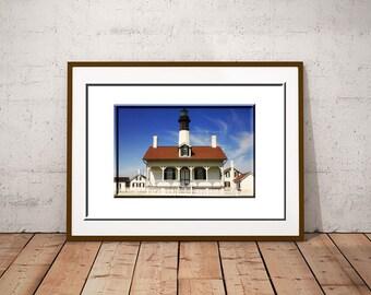 Tybee Island Lighthouse-Georgia Coast Art-Nautical Wall Art-Coastal Photography-Lighthouse Wall Print-Fine Art Photograph-Horizontal Print