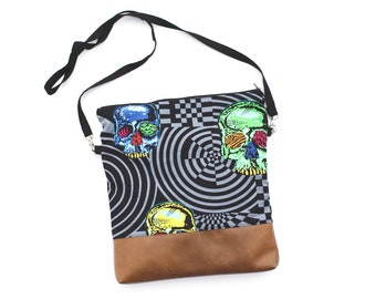 Head Trip slouchy bag with faux leather