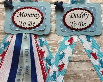 Planes Mommy To Be Baby Shower Corsage Planes Theme Corsage It's a Boy Baby Shower Corsage Baby Shower Corsage