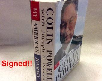 Colin Powell My American Journey signé dédicacé 1995