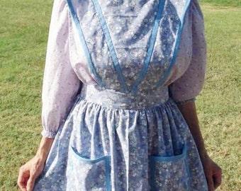 Tablier de Quaker, pionnier tablier, tablier plein, cousu à la main, tablier long vintage style, jupe ample, plus tablier taille, tablier costume, shabby chic tablier