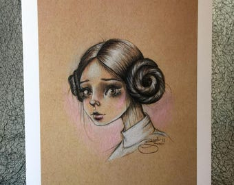 Princess Leia 5x7 Print