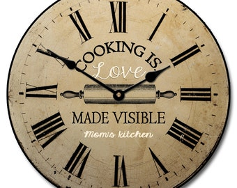 Cooking is Love Wall Clock 2