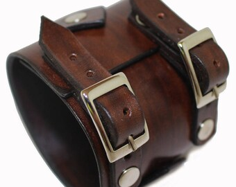 JOHNNY DEPP style leather bracelet mens leather jewelry genuine leather wristband mens bracelet first class leather cuff brown