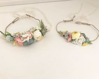 Flower crown- made to match Well Dressed Wolf- Flower crown- Well dressed wolf- Floral crown- Bridal Crown- Flower Girl-