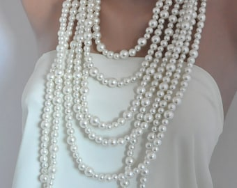 wedding jewelry, bold, Handmade Weddings, Pearl Necklace, brides, bridesmaids gifts, special occasion