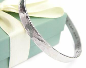 Personalized Bracelet -  Hand Stamped Bracelet - Secret Message Bracelet - Personalized Message Jewelry - Best Friend Gift - My Sun & Stars