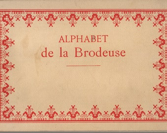 ALPHABET de la Brodeuse Embroiderer's Alphabet DMC 14th Edition Counted Thread Needlepoint Embroidery Cross Stitch French Antique Book