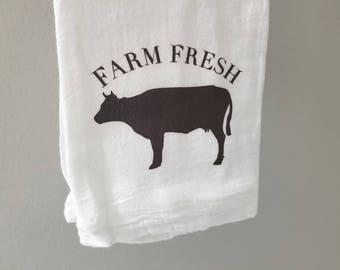 Farmhouse Flour Sack Kitchen Towel - Farm Fresh