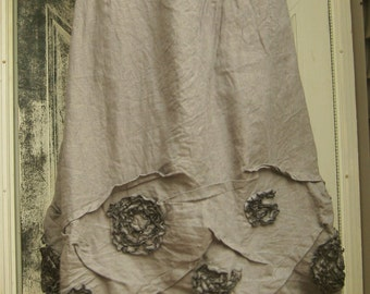 Long Swirly Scrunch Skirt