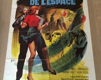 Poster Vintage cinema 120 x 160 cm space monsters