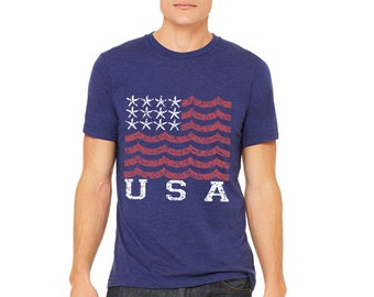 Limited Edition Team USA Navy T-Shirt // Summer Olympics Shirt // American Flag Shirt