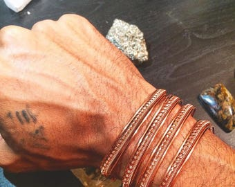 Made to Order- Your choice of quantity for: Copper Ascension Inner G Bracelet. Reiki bracelet. Healing bracelet. Balance your Subtle bodies!