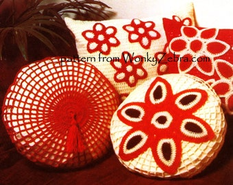 Vintage Crochet Pattern 249 PDF Cushions from WonkyZebra