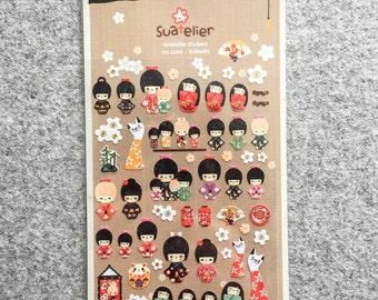 "Cute stickers ""Kokeshi"" | Cute Stationery"