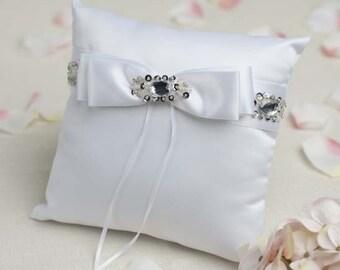 Glam Jeweled Wedding Ring Bearer Pillow- 75220M1