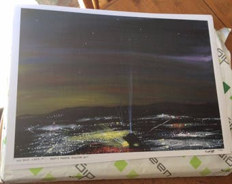Sun Down, Lights Up- A3 prints of my Acrylic painting