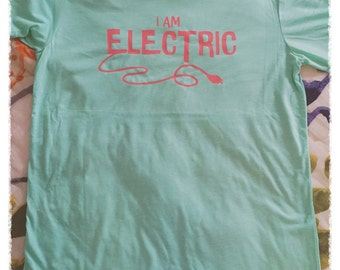 I Am Electric Tee (Back Right Outlet Placement)