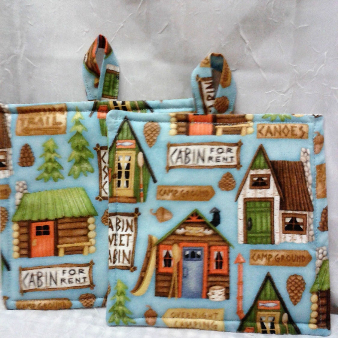 Cabin Kitchen Pot holders Cabin Theme Country Kitchen Hot