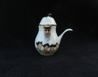 Pitcher: Hand painted syrup pitcher