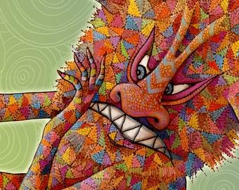 Monster - Personalized Children Sign - Letter N Print - Children Art Print - Kids Wall Art - Children Wall Art - Monster Art