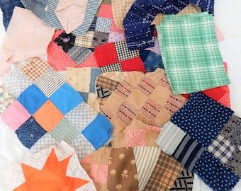 Quilt Repair Quilt Blocks 19th & 20th Century Fabrics
