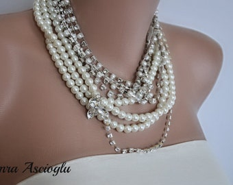 NEW Collection Chunky Bridal Rhinestone Necklace
