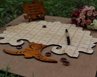 Anniversary Guest Book Anniversary Guest Book puzzle Anniversary Puzzle Guest Book For Couple