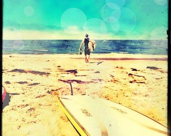 Surf Art, Surfer Photography, Surf Photography, Surfboard, California Art, Retro Surfer Art, Beach Wall Art