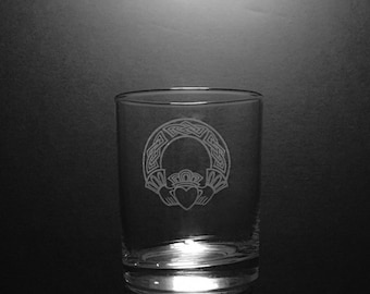 Claddagh 13 Ounce Old Fashion Rocks Glass