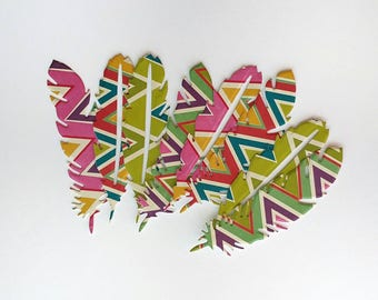 Set of 8 Feather Stickers