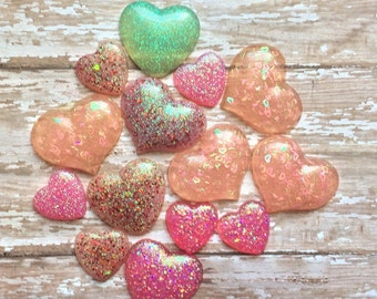 Set of Resin Hearts