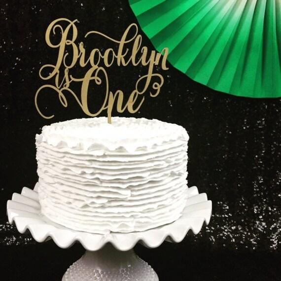 Custom Name Cake Topper, Birthday Cake Topper, Custom Age Cake Topper, Personalized Cake Topper, Glitter Cake Topper, Wooden Cake Topper